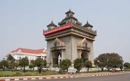 Arch of triumph, Vientiane, Laos Royalty Free Stock Photos