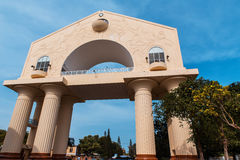 Arch 22 - triumphal arch. The main monument of the capital of Gambia Banjul Stock Photos