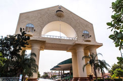 Arch 22 - triumphal arch. The most popular tourist attraction Gambia capital Banjul Stock Photos