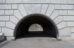 Arch Tunnel. A front view of an arched tunnel with shadow Stock Photography