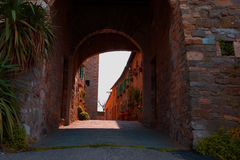 Arch in Tuscany stock image