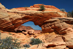 Arch Up Close. Vermilion Cliffs royalty free stock image