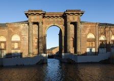 Arch Vallin de la Mothe 新的荷兰海岛,圣彼德堡 俄国 库存图片
