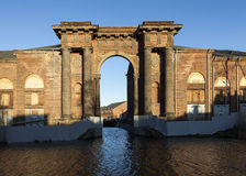 Arch Vallin de la Mothe. New Holland Island, St. Petersburg. Russia. stock image