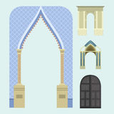 Arch vector architecture construction frame column entrance design classical illustration Royalty Free Stock Images