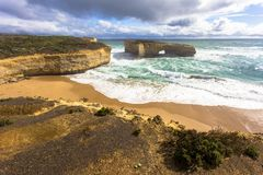 The Arch Victoria, Australia Great Ocean Road and surroundings sea oceans and cliff. Australasia Royalty Free Stock Photo