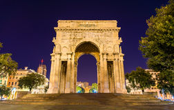 The Arch of the Victory in Genoa Royalty Free Stock Images