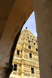 Arch view of bell tower at the thanjavur maratha palace. The Thanjavur Maratha Palace Complex, known locally as Aranmanai, is the official residence of the Royalty Free Stock Photography