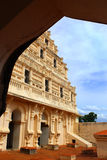Arch view of bell tower at the thanjavur maratha palace. The Thanjavur Maratha Palace Complex, known locally as Aranmanai, is the official residence of the Royalty Free Stock Images