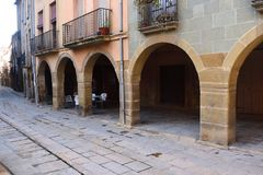 Arch in the village of Calaf, Anoi, Barcelona province, Cataloni. A Royalty Free Stock Photography