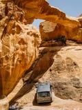 The Arch in Wadi Rum, Jordan Stock Image