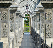 Arch Walkway in Tirtagangga Taman Ujung Water Palace. Bali Indonesia Royalty Free Stock Image
