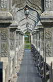 Arch Walkway in Tirtagangga Taman Ujung Water Palace. Bali Indonesia Stock Photo