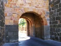 Arch in the wall of avila, Castilla y Leon, Spain royalty free stock photos