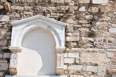 An Arch Wall in Greece Royalty Free Stock Photos
