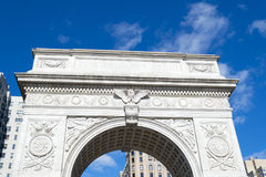Arch in Washington Square park in Greenwich village in NYC Royalty Free Stock Photos