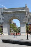 Arch in Washington Square Park - New York City. USA Royalty Free Stock Images