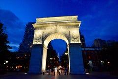 Arch at Washington square park at night. Washington Square Park, at 4th Street and 5th Avenue, Manhattan NYC Stock Photography