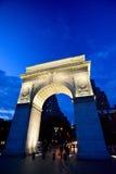 Arch at Washington square park at night. Washington Square Park, at 4th Street and 5th Avenue, Manhattan NYC Stock Photos
