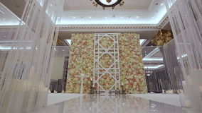 Arch for wedding ceremony stock video footage