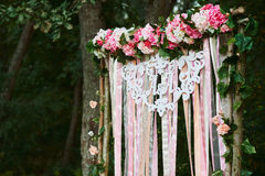 Arch for the wedding ceremony . Floristic composition. types Stock Photography