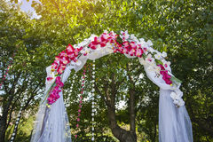 Arch for the wedding ceremony. Floristic composition Royalty Free Stock Photography
