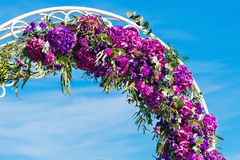 Arch for the wedding ceremony. Floristic composition in vintage. Style. The Provence Royalty Free Stock Photo