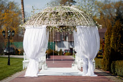 Arch for wedding ceremony Royalty Free Stock Photography