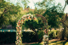 Arch for the wedding ceremony Royalty Free Stock Photo