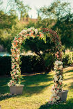 Arch for the wedding ceremony Stock Photography