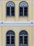 Arch Windows. Gray Arch Windows, Vintage style Stock Photography