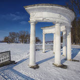 Arch in Winter Park Stock Photo