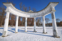 Arch in Winter Park Royalty Free Stock Images