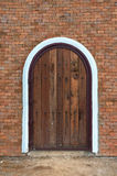 Arch wooden door Royalty Free Stock Photos