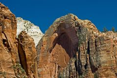 Arch at Zion National Park, Utah Royalty Free Stock Images