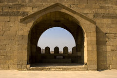 The Arch of Zuweila. Bab Zuweila is a medieval gate in Cairo, which is still standing in modern times. It was also known as Bawabbat Al-Mitwali during the Royalty Free Stock Photos