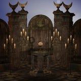 Archaïsch altaar of heiligdom in fantasie het plaatsen stock illustratie