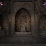 Archaïsch altaar of heiligdom in fantasie het plaatsen vector illustratie