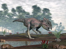 Archaeoceratops dinosaurie - 3D framför vektor illustrationer