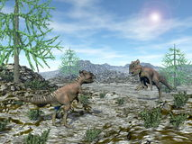 Archaeoceratops dinosaurier - 3D framför vektor illustrationer