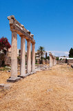 Archaeological area of Kos. Archaeological area of coo was discovered a villa of the third century AD with interesting wall paintings and mosaics Royalty Free Stock Images