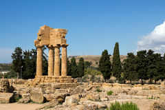 Archaeological Area of Agrigento, Dioscuri temple symbol of the city Royalty Free Stock Image