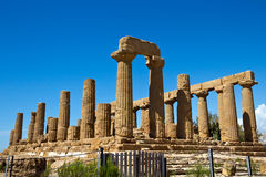 Archaeological Area of Agrigento - Temple of Juno, Sicily Stock Image