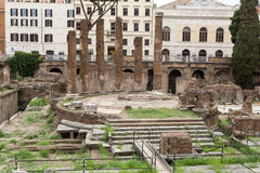 Archaeological area of Largo di Torre Argentina in Rome, Royalty Free Stock Images