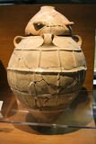 Archaeological artifact. Similar to urn on display in museum Royalty Free Stock Image