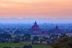 archaeological bagan myanmar zon Arkivfoton