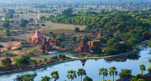 archaeological bagan myanmar zon Royaltyfria Foton