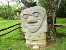archaeological colombia för agustin park san Arkivbilder