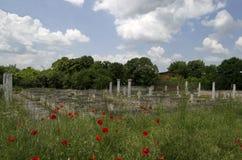 Archaeological complex Abritus. In present town Razgrad, Bulgaria royalty free stock photos