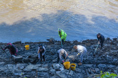 Archaeological Dig. From the recent dig at South Hylton which is looking for `Sunderland`s Forgotten Stones` or `Brigg Stones` believed to be from an Roman era royalty free stock photography